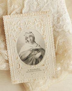 St. Elisabeth Prayer Card, vintage prayer cards are so pretty :)
