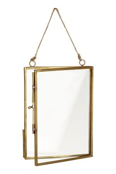 Photo frame made of metal- Fotorahmen aus Metall Gold colors. Frame made of metal and clear glass with a sliding closure and two eyelets with hanging cord. The screws are not included. For pictures up - Metal Photo Frames, Metal Frames, Vintage Photo Frames, Glass Picture Frames, A Frame Cabin, Pressed Flower Art, H&m Home, Hanging Frames, Frame Crafts