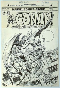Gil Kane Covers | Original Art - Conan #042 Cover by Gil Kane