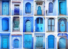Chefchaouen, a small town in northern Morocco, has a rich history, beautiful natural surroundings and wonderful architecture, but what it's most famous for are the striking and vivid blue walls. Moroccan Design, Moroccan Decor, Moroccan Style, Moroccan Blue, Moroccan Bedroom, Modern Moroccan, Moroccan Lanterns, Moroccan Interiors, Chefchaouen Morocco