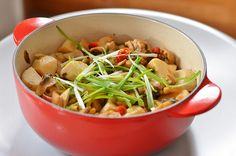 Stewed Chicken with Pickle and Baby Taro & Review of Le Creuset 2-Quart Legumier