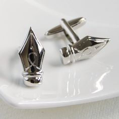 fountain pen cufflinks by highland angel | notonthehighstreet.com