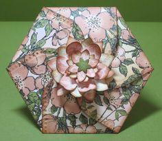 Designs by Marisa: Hexagon Petal Envelope and Basket Ensemble