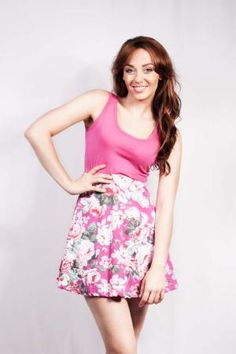 Lycra Short Dress With Floral Print -GooseIsland -Dresses -Fashion ...