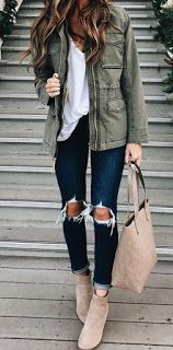 #winter #outfits women's gray leather zip-up jacket, white shirt, distressed blue denim capri pants, brown suede booties, grey shoulder bag screenshotwomen's gray leather zip-up jacket, white shirt, distressed blue denim capri pants, brown suede booties, grey shoulder bag screenshot