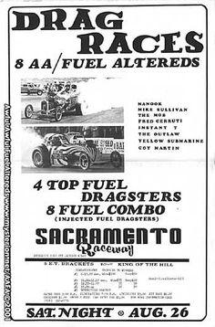 Vintage Drag Racing - Sacramento, CA Raceway flyer