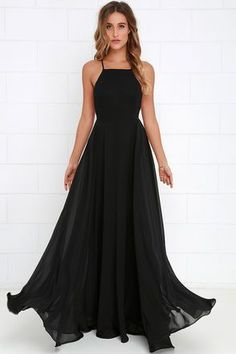 Mythical Kind of Love Black Maxi Dress at Lulus.com! Little Black Dresses, dress, clothe, women's fashion, outfit inspiration, pretty clothes, shoes, bags and accessories