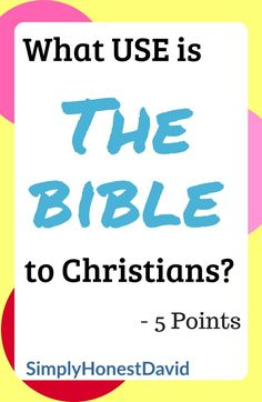 Whether you have asked this questions or not, it is an important one to answer. What use IS the Bible to a Christian? I have 5 points I'd like to address regarding this question. Bible Studies For Beginners, Reading For Beginners, Bible Study Tips, Reading Tips, Daily Devotional, Learn To Read, Christianity, Helpful Hints, Study Methods