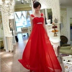 Luxury Style - Sleeveless Rhinestone Ruched A-Line Evening Gown