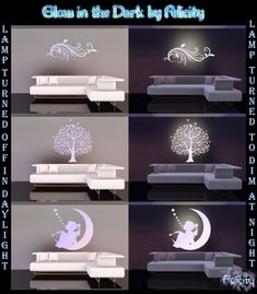 Glow in the Dark wall lamps by Felicity - Sims 3 Downloads CC Caboodle