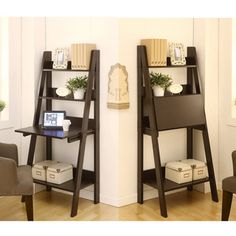@Overstock.com - Union 2-in-1 Bookcase/ Writing Desk - Make the best use of a small space with this two-in-one writing desk, which can also be used as a bookcase. The ladder-style design features a panel that folds down to create a desk or folds up to create a hidden storage compartment. http://www.overstock.com/Home-Garden/Union-2-in-1-Bookcase-Writing-Desk/6604982/product.html?CID=214117 $170.99