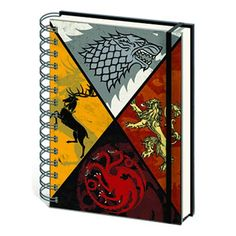 Game of Thrones House Crests Notebook $11.99