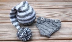 Newborn baby girl or boy hand knitted diaper by MyLittleKnits, $38.00