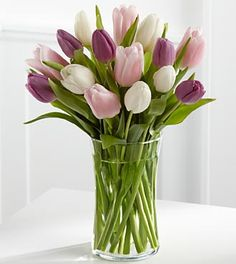 Painted Skies Tulip Bouquet - 15 Stems -$29.99