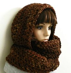 THIS LISTING IS FOR THE PATTERN ONLY. IT IS NOT THE FINISHED PRODUCT. CROCHET LEVEL - INTERMEDIATE  This hooded scarf has an oversized, loose
