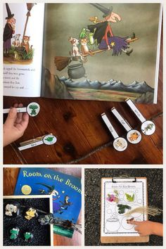 Room on the Broom: Hands-On Activities - Drama Activities, Library Activities, Outdoor Activities For Kids, Montessori Activities, Hands On Activities, Preschool Printables, Preschool Crafts, Sequencing Cards, Story Sequencing