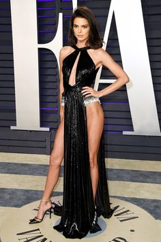 Kendall Jenner wore a double slit Rami Kadi at the Vanity Fair Oscar Party in -- HollywoodLife Source by cgcbyn clothes fashion kendall jenner Kylie Jenner Outfits, Kendall E Kylie Jenner, Sexy Outfits, Stylish Outfits, Women's Fashion Dresses, Sexy Dresses, Party Dresses, Short Prom Dresses, Fashion Women