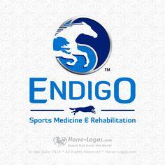 Custom horse logo design created for Tamara Perkins of Endigo Sports Medicine and Rehabilitation by Horse-Logos.com #equine #equestrian #horse #brand #branding #logo #design