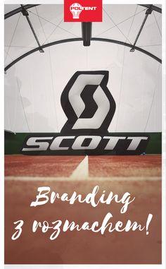 Logo Scott o wymiarach 6 x 4 m. Nietypowy balon pneumatyczny w kształcie logo: www.poltent.pl
