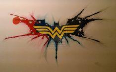 Wonder Woman Batman Tattoo by Mistaj27