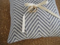 must make chevron pillow! (minus the wedding rings!)