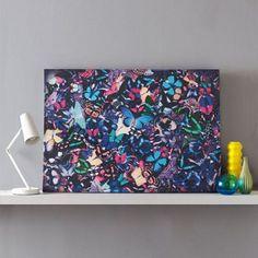 Graham & Brown Blue Butterfly Kaleidoscope Canvas Wallart- at Debenhams.com