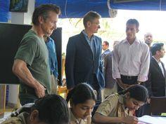 Sean Penn visits a girl's school in Pakistan. (I've always admired Sean Penn)