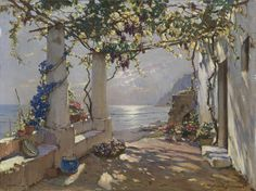 Capri Konstantin Westchilov - Date unknown  Private collection Painting - oil on canvas