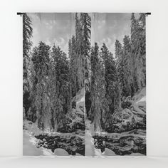 Oregon Adventures Black and White - Nature Photography Window Curtains