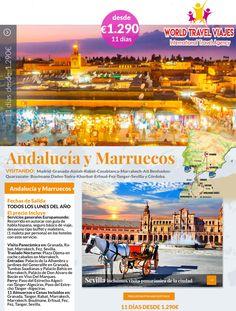 Ven a pasar unas #vacaciones de ensueño en #Marruecos, un destino original que ofrece autenticidad, sol, hospitalidad, relax, cultura, aventura y más.  Información y reservas en el 915 230 449 o en info@worldtravel-viajes.com