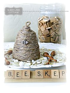 Bee skep by *Queen Bee Cottage*