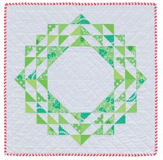 Half-square triangles wreath by Cindy Lammon | Martingale