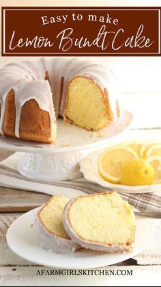 Best Lemon Cake Recipe, Lemon Dessert Recipes, Delicious Cake Recipes, Pound Cake Recipes, Lemon Recipes, Baking Recipes, Pound Cakes, Pie Recipes, Moist Lemon Pound Cake