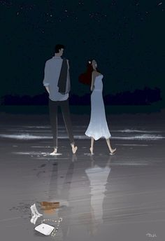Pascal Campion Illustrate The Most Wonderful Little Things In A Relationship. Pascal Campion, Couple Illustration, Illustration Art, 4 Image, Anime Chibi, Illustrations, American Artists, Cool Art, Concept Art