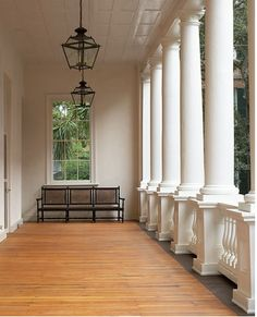 Want an example of a perfect porch? Just take a look at THIS one! Gosh I love Charleston (just wish it wsan't SOOO so very hot!).  :)  -db.  |  THEFULLERVIEW | (via n e u t r a l s / Verandah William Gatewood House, Charleston, South Carolina)