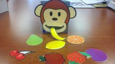 My speech/language monkey game I made from tissue boxes! I found a picture of a monkey face and cut the mouth out and then cut a hole where the mouth will be. I used velcro to place the monkey on the box. The children will feed the monkey saying the name of the fruit, using complete sentences, answering questions, articulating the sounds, and more!