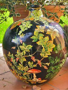 1000 images about dipingere vetro on pinterest diy for Decoupage su vaso di vetro