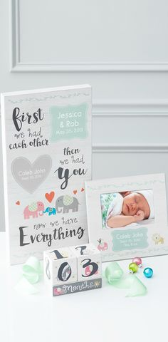 Shop personalized baby gifts for baby showers, gender reveals or firs birthdays! Share your special moments and make them personal with Things Remembered! https://www.thingsremembered.com/personalized-baby-gifts/category/new-baby?fcref=OrgPinterest