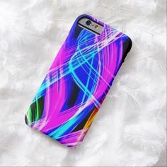 Rainbow Storm Airbrush Art iPhone 6, Barely There Case by BOLO Designs.