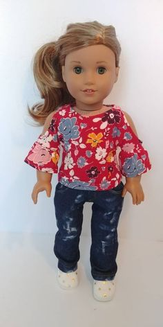 crafts Excited to share the latest addition to my shop: Doll clothes 18 inch. Fits like American girl doll clothes. Sewing Doll Clothes, Sewing Dolls, Girl Doll Clothes, Doll Clothes Patterns, Doll Patterns, Clothing Patterns, Sewing Patterns, American Girl Doll Pictures, American Doll Clothes