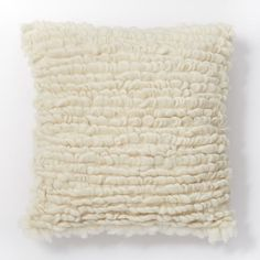 Wool Looped Pillow Cover - Ivory | west elm