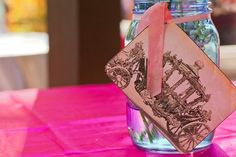 Cute details at a vintage cinderella themed birthday party! {Photo by IDEA! event + style} #masonjars
