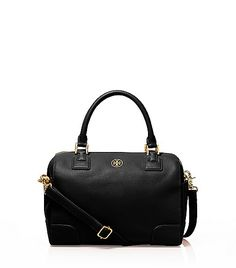 Tory Burch Robinson satchel - have this bag. I bought it from Nordstrom. It's one of the best satchels in the market. It's very roomy despite the model name- medium satchel. It holds everything! And it has a detachable shoulder strap. I have it in red as well. Perfect for work, travel, errands. It matches with everything and anything from jeans to suits, and it's a real classic.