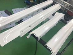 クラウン サイドスポイラー 耐薬品性に優れたPCX-V110を施工