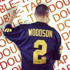 Signed Charles Woodson college jersey