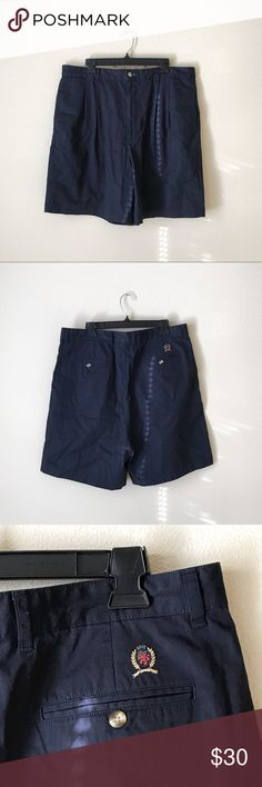 """Tommy Hilfiger Navy Blue Shorts 100% cotton. Approximate measurements when flat: Length 20 3/4"""" inseam 7 1/2"""" Tommy Hilfiger Shorts"""