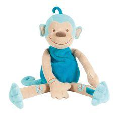 Cuddly monkey 40 cm - #baby #bebe #doudou #knuffel #knuffelbeer #cuddlytoy #kuscheltier #nattou #papa #mama #mom #dad #father #mother #parents #maman #grossesse #zwanger #pregnant #pregnancy #zwangerschap #enceinte #cuddly #peluche #plush #Plusch #schwanger #geboorte #geburt #birth #naissance #vater #eltern #mutter #aap #affe #monkey #singe #blauw #bleu #blue #blau