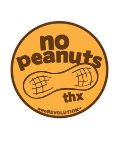 Food Allergy Awareness Vinyl sticker.