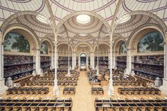 Over the past year, Thibaud Poirier has traveled all across Europe to capture 25 of the world's most magnificent libraries. From the opulent Literature Room, of the Library of Sorbonne, in Paris, to the minimalist and modern architecture of the Grimm Zentrum Library in Berlin, these images