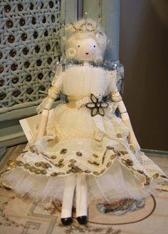 Beautiful Handmade Fairy Doll 'Cecile'-handmade christmas fairy doll - Betty & Violet